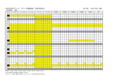 アリーナ関連施設空き状況(3月)のサムネイル