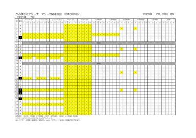 アリーナ関連施設空き状況(7月)のサムネイル